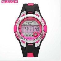 JAGA Outdoor Sports Children Kids Watches Boy Girls LED Digital Stopwatch Waterproof Wristwatch Children's Dress Watch M998