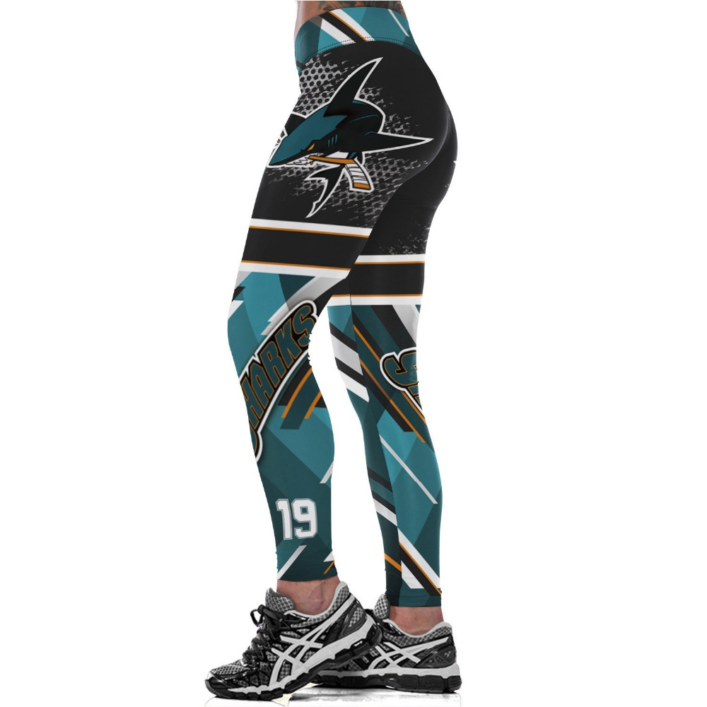 San Jose S-Team Logo Fitness Leggings Elastic Fiber Hiphop Party Cheerleader Rooter Team Workout Pants Trousers Dropshipping