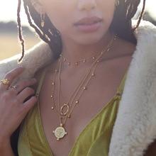 Женское ожерелье из серебра 925 пробы в виде бобы и капли воды