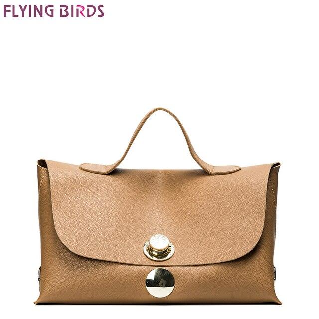d6071e9355 FLYING BIRDS Boston Bags Lock Women Shoulder Bags Female handbags famous  brands all-match Tote European and American Bolsas