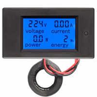 Peacefair AC Monofase Wattmetro Digitale contatore di Energia di Potenza 220V 100A Kwh Meter Homekit PZEM-061 con Bobina CT Trasporto trasporto libero