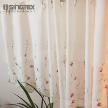 iSINOTEX Kitchen Curtain Pink Purple Three-Dimensional Embroidery Rose Coffee Finished Translucidus Decor Multi-size 1 PCS/Lot