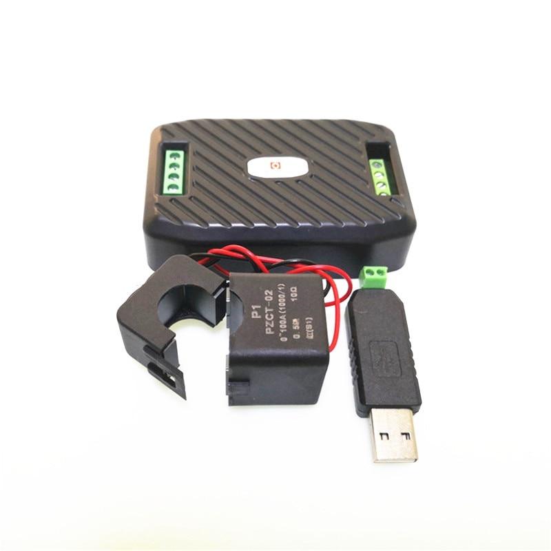 Aletler'ten Voltaj Ölçerler'de Yeni AC Güç Ölçer Enerji Ölçer elektrik sayacı Bölünmüş CT Ile AC + USB 485 Modülü Voltaj Ölçer title=