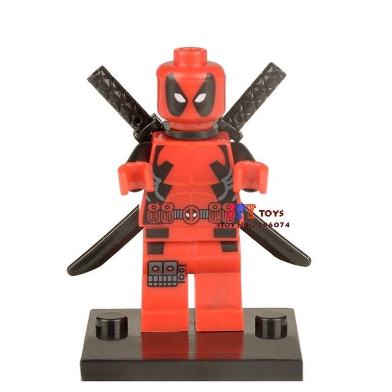 50pcs superhero Deadpool building blocks bricks friends for girl boy kids children toys brinquedos menina