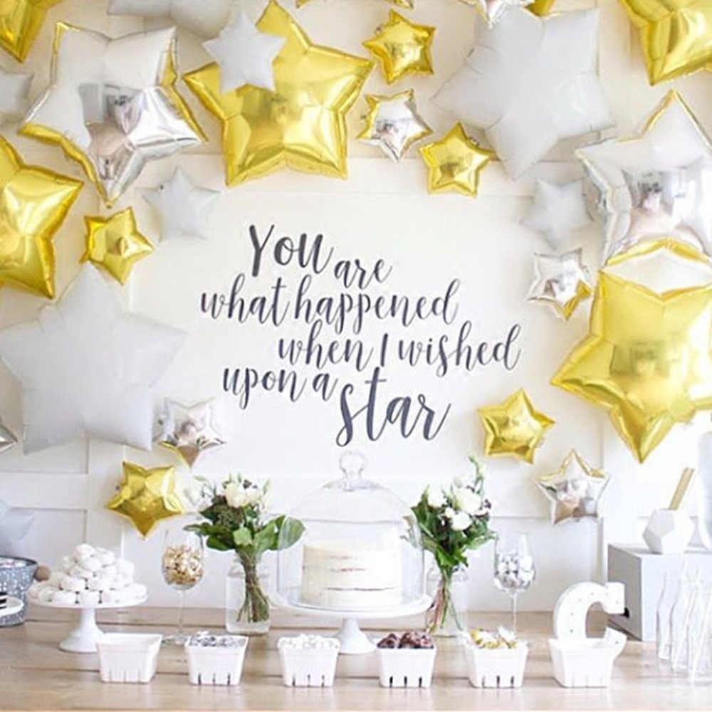12 sztuk/partia 18 cal folia gwiazda balony 10 cal złoty balony Birthday party srebrny złoty globos piłka