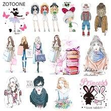 ZOTOONE Модный комплект для девочек, нашивки в полоску с утюгом на одежду, самодельные нашивки с теплопередачей для одежды, аксессуары, Наклейка G