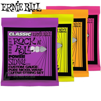 Ernie Ball Slinky Classic Rock n Roll Pure Nickel Wrap Electric Guitar Strings 2253 2252 2250 2251