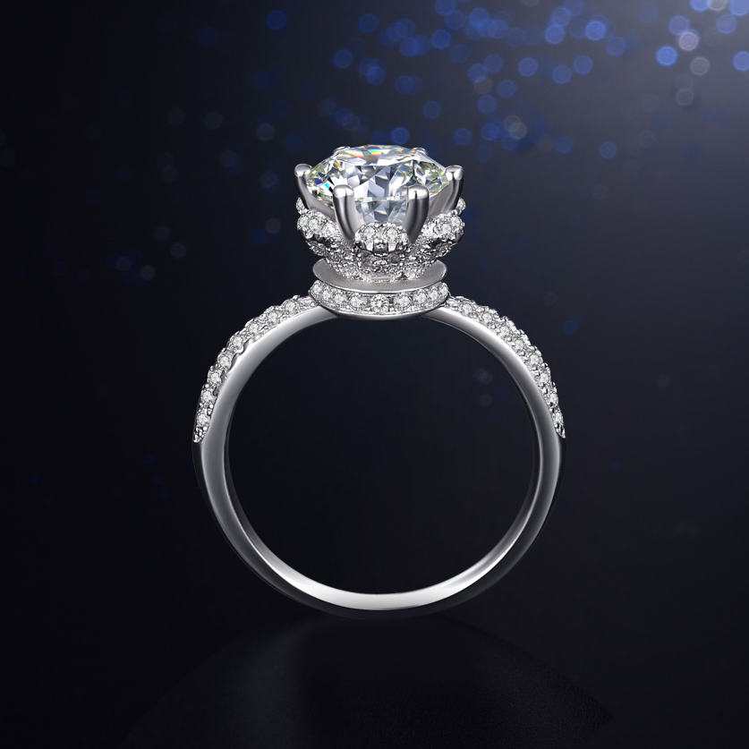 2017 New Fashion Classic solid 925 Sterling silver wedding Ring CZ Ziron Jewelry party engagement brand Rings for women Gift
