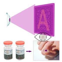 Lentes de contacto póquer Perspectiva de trampa lente de póker ver tarjetas marcadas invisibles Anti Gamble Cheat gafas mágicas Casino trampa