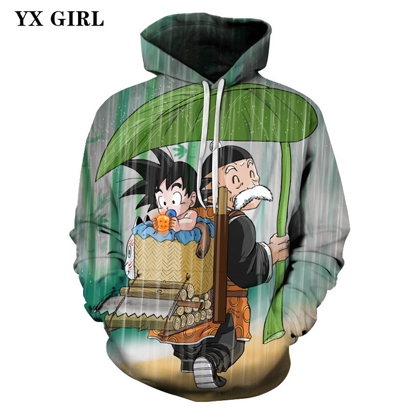Dropshipping Men 3d Hoodie Anime Dragon Ball Goku Print Hoodies Autumn Spring Pullover Sweatshirt With Pockets Hat Tops in Hoodies amp Sweatshirts from Men 39 s Clothing