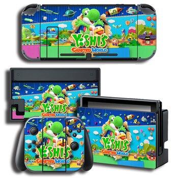 Sticker Nintendo Switch Yoshi Crafted World