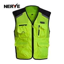 Брендовые куртки для езды на мотоцикле, для ночной езды, высокая видимость, мото, зимний дышащий сетчатый светоотражающий жилет для мужчин и женщин