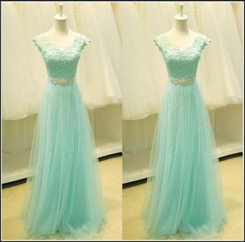 New Arrival Long Evening Dresses Elegant Real Princess Bride Gown Glamorous V-Neck Ball Prom Party Graduation Formal Dress