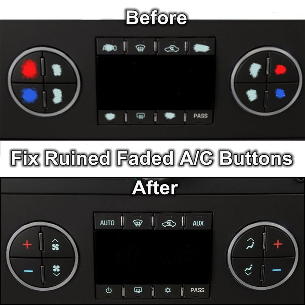 AC Dash Button Repair Decal Stickers Dash Replacement for Select GM Vehicles New