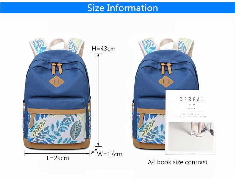 FengDong винтажные, в виде листика печати холст школьный рюкзак для детей школьные рюкзаки для девочек детская раскраска женщины ноутбук рюкзак 14