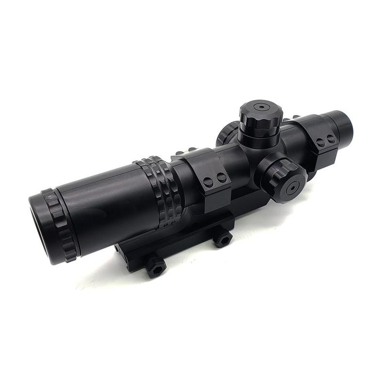 8x Sight Scope Riflescope Green & Red Cross Tactical Hunting Optics Holographic Sight Toy Plastic Gun Accessories