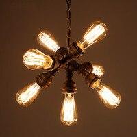 6 головок водопровод подвесные светильники дома столовая Стиль Лофт Промышленные освещения Винтаж светильник светодиодный Lampen Hanglamp
