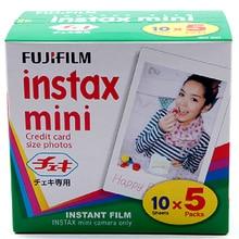 Genuíno 50 folhas borda branca fuji fujifilm instax mini 8 filme para 8 50 s 7 s 7 90 25 Ação SP-1 Instant Camera Transporte Rápido Livre grátis