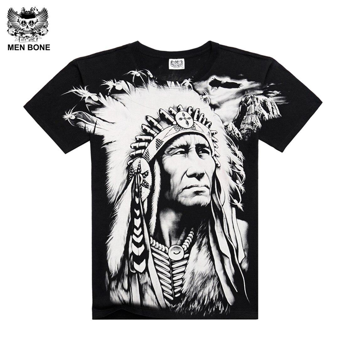 [Hommes os] mode chef Indien Plein printting t-shirt chemise Fraîche de coton Plus La taille marque t shirt pour Menrock livraison gratuite