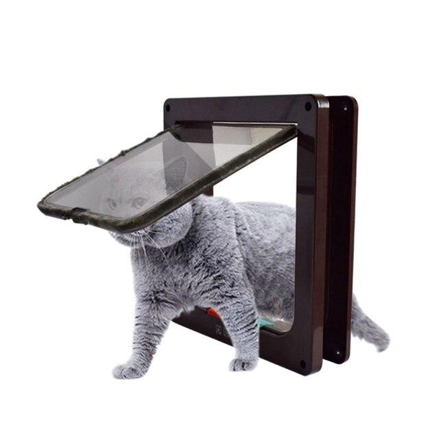 אוטומטי הניתן לנעילה כלב חתול חתלתול דלת אבטחה דש דלת Abs פלסטיק S/m/l חיה קטן חיות מחמד חתול כלב שער דלת ציוד לחיות מחמד