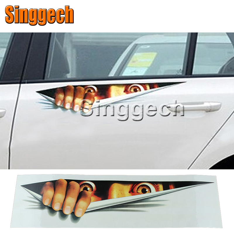 3D Eyes Peeking Monster Car stickers For Chevrolet Cruze Aveo Captiva Lacetti TRAX Sail Epica For Acura MDX RDX TSX