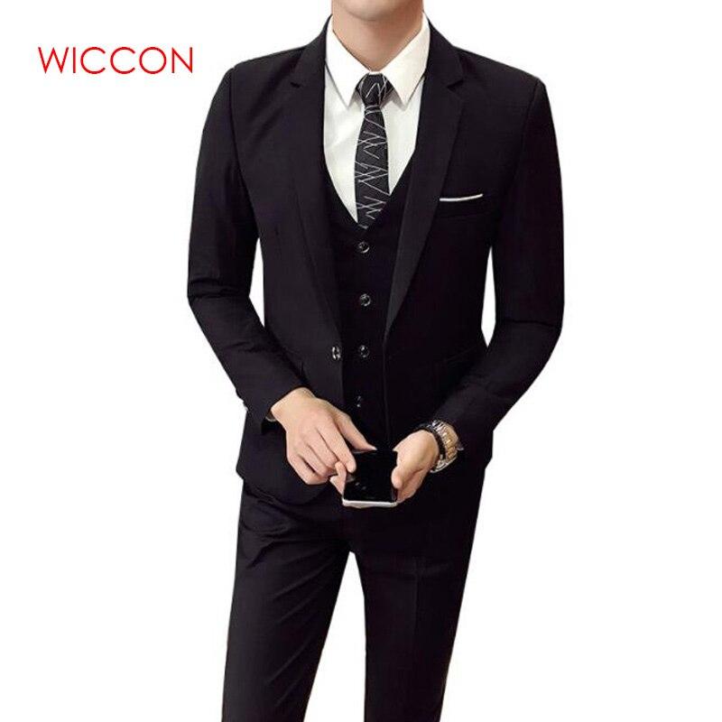 3 pièces ensemble veste + gilet + pantalon hommes Costume de mariage hommes Blazers Slim Fit costumes pour hommes Costume affaires formel fête classique-6XL