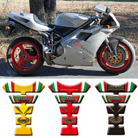 For Ducati 748 916 996 998 Motorcycle Tank Sticker Decals 3D Tank Pad Fishbone Protective Decals 748 916 996 998 Tank Sticker