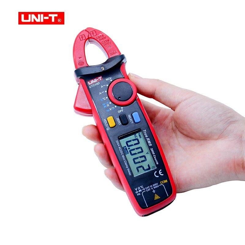 купить UNI-T UT210D Digital Clamp Meters Multimeter True RMS AC/DC Current Capacitance Tester Digital Multimeter LCR Meter Megohmmeter недорого