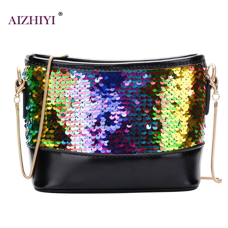 17428bfdf211 Fashion Lady Shinning Glitter Handbag Crossbody Bag for Women Sequins  Evening Pouch Shoulder Messenger Flap Party bags