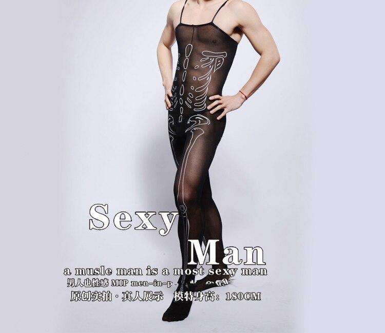 cbfa65bcffc Mens print body suit sexy velvet high elastic lingerie bar club jpg 750x650  Bodystockings for men