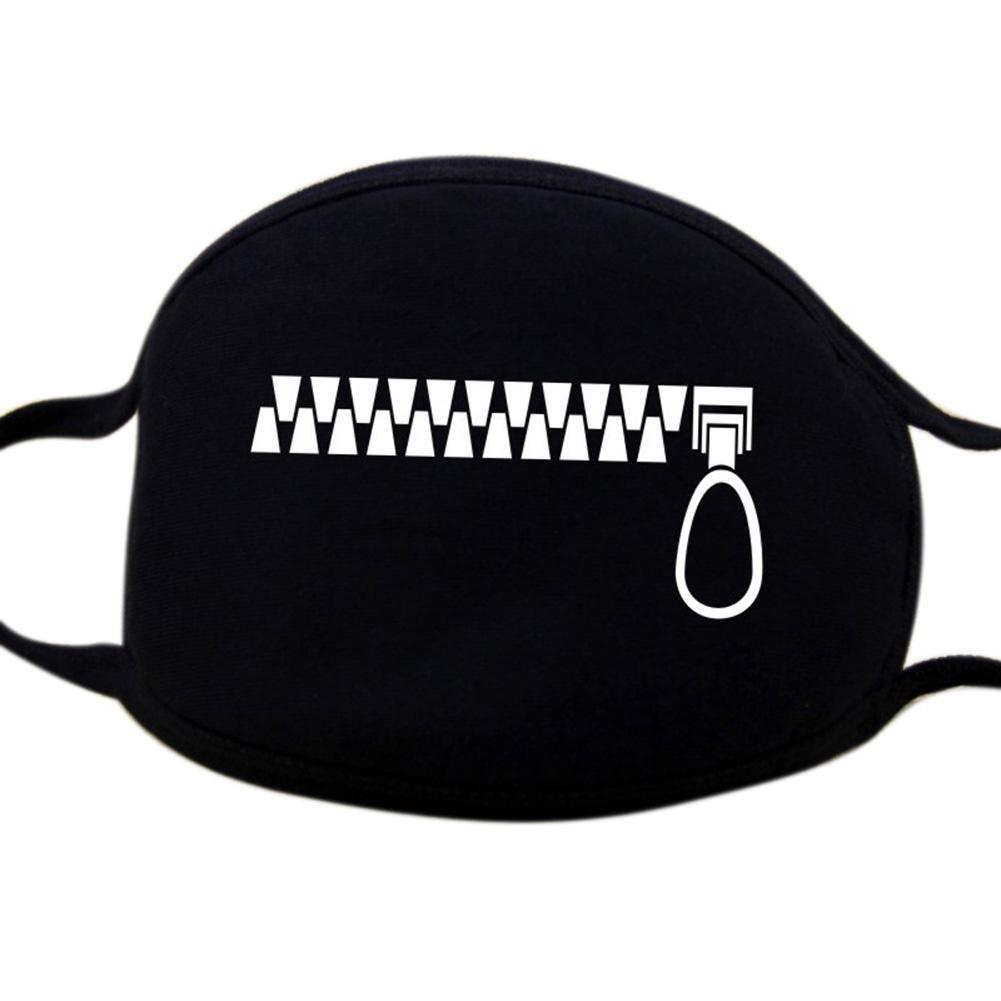 Unisex Personality Black Face Mask Outdoor Print Mouth Mask Anti Haze Dust Masks Filter Windproof Mouth-muffle Bacteria 7c1015 Soft And Antislippery Apparel Accessories