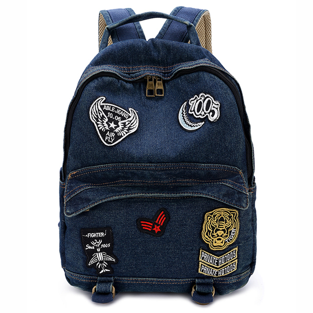 Fashion Women Backpacks Denim School Bags For Teenagers Girls Travel Daily Bagpack Vintage Female Collage Backpack Mochilas DH