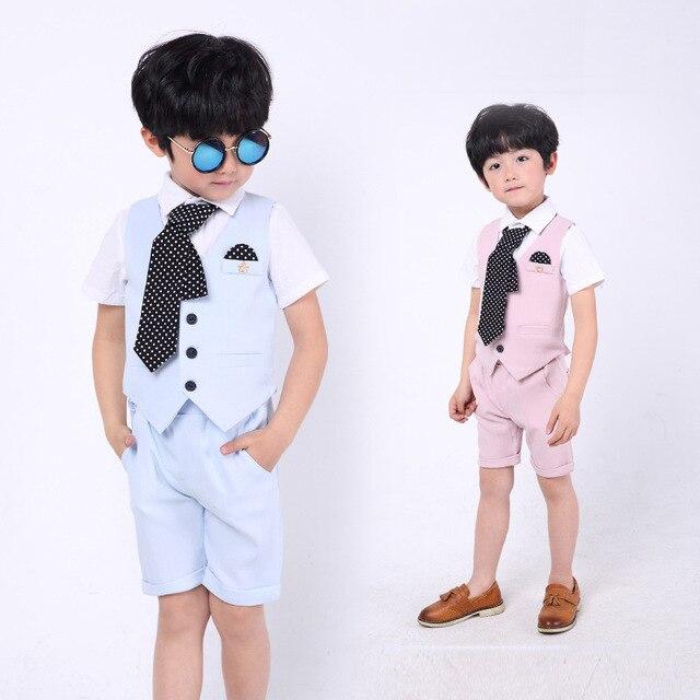 0b0c0fa0d109 Brand Children Flower Boys Suits Kids Blazer Boys Formal Suit Birthday  Party Dress Weddings Boys Clothes Set Vest Pants Tie 3Pcs