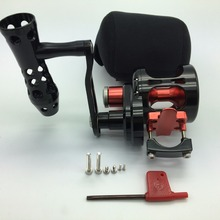 High gear ratio 6.0:1 Slow jigging rocker Full Metal Boat Reels offshore boat fishing drum trolling iron reel 25-35kg drag