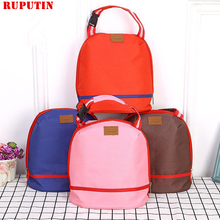 RUPUTIN Portable Cooler Tote Insulated Canvas Lunch Bag High Quality Thermal Storage Food Picnic Bento Lunch Box For Women Kids цена и фото