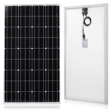 лучшая цена Anaka 120W 12 Volt Solar Panel Cells charger China solar monocrystalline panel battery/Module/System/Home/Boat 100W solar panel
