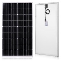Anaka 120W 12 Volt Solar Panel Cells charger China solar monocrystalline panel battery/Module/System/Home/Boat 100W solar panel