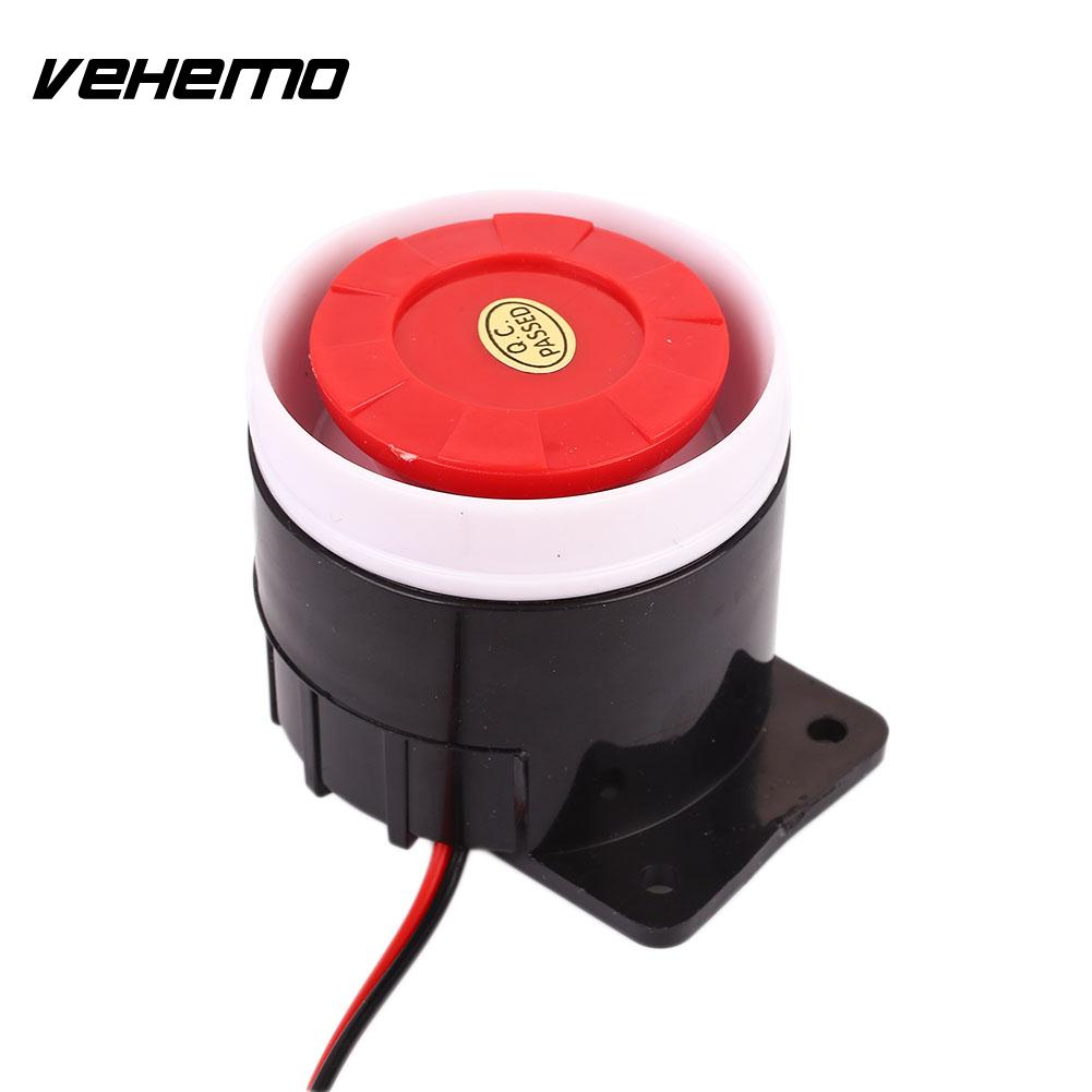 Vehemo High Tone <font><b>120DB</b></font> Premium High Sensitivity Alarm Horn Security Siren Tweeter Warning Loud Speaker Durable <font><b>Buzzer</b></font> image