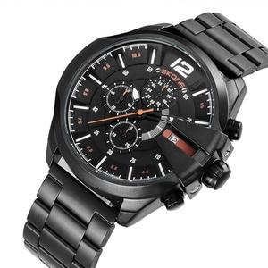 Image 5 - Skone Famous Design Luxury Watches Men Business Brand Quartz Clock Male Chronograph Waterproof Mens Golden Wrist Watch