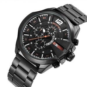 Image 5 - Skone montre de luxe pour hommes, célèbre Design, montre bracelet à Quartz, marque daffaires, chronographe, étanche, doré