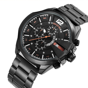 Image 5 - Skone relojes de lujo para hombre, de cuarzo, de negocios marca, resistente al agua, con cronógrafo, dorado