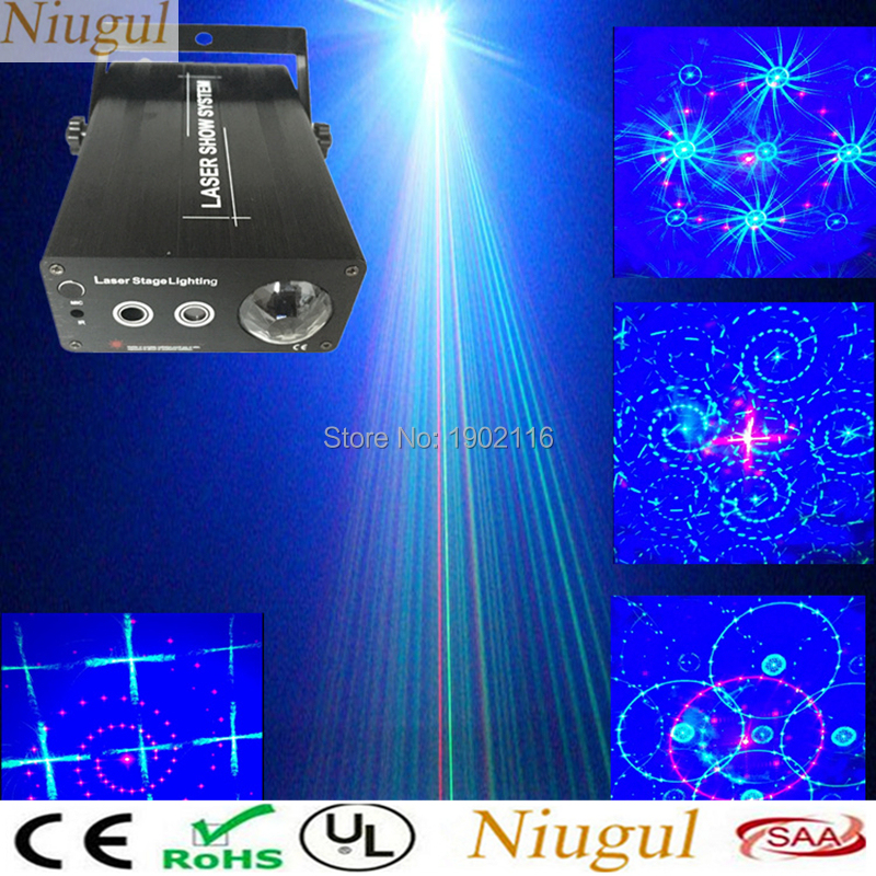 Niugul 3 Lens Red Green Laser+Blue Wave Effect LED 24/48 Patterns Mixing LED Stage Light/RGB Laser Light For Disco DJ Home Party cute cartoon airplane style red light led keychain w sound effect blue white 3 x ag10