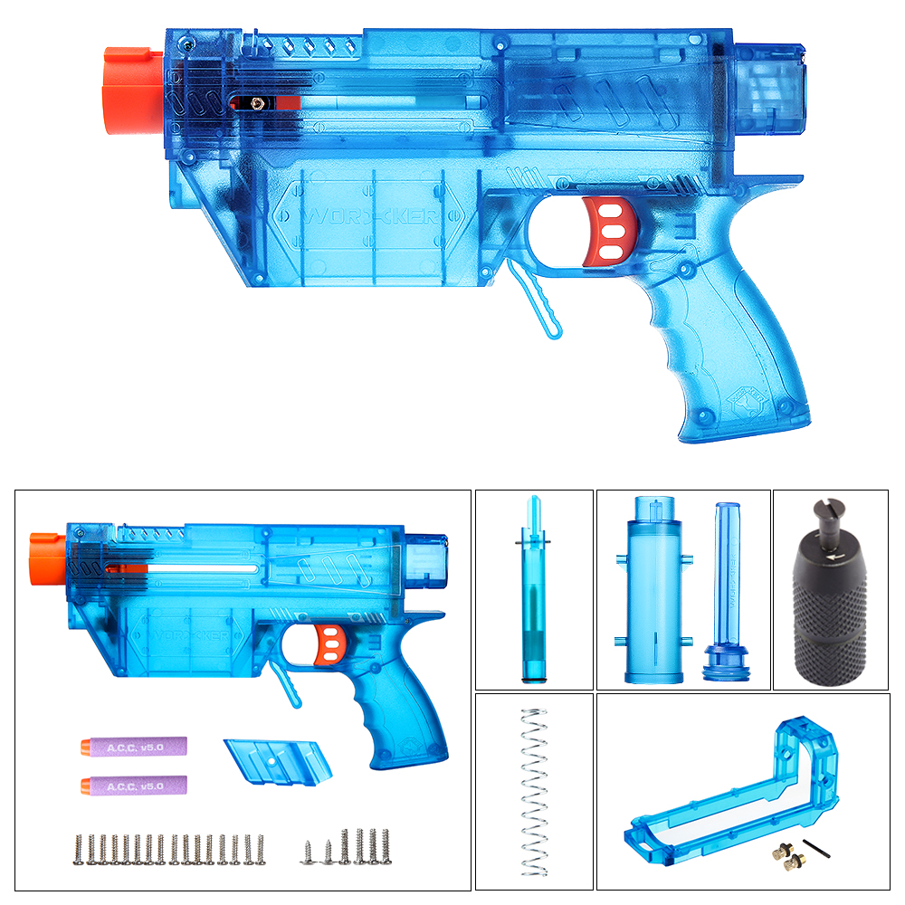 Здесь продается  Prediction R Series Modeling 12KG Spring Long Bullet Transformed Kit for Nerf(Type-B Pump) - Transparent Blue  Игрушки и Хобби