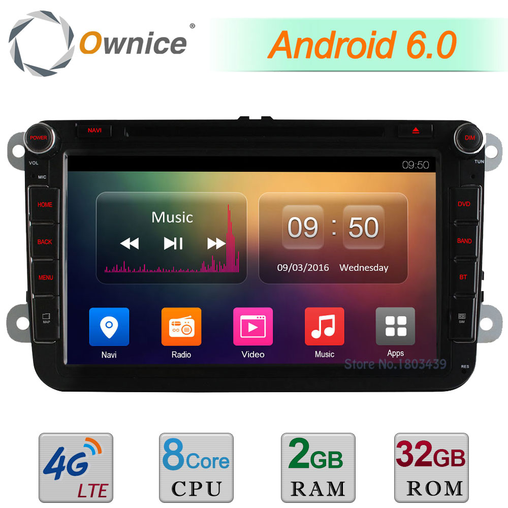 4G Octa Core 2GB RAM 32GB ROM 8 Android 6.0 DAB Car DVD Radio Player For Volkswagen Polo V 6R Golf Skoda Octavia FABIA SUPERB german warehouse 9 android 8 0 car gps for vw volkswagen skoda octavia fabia rapid yeti superb seat golf polo bt rds dvd player