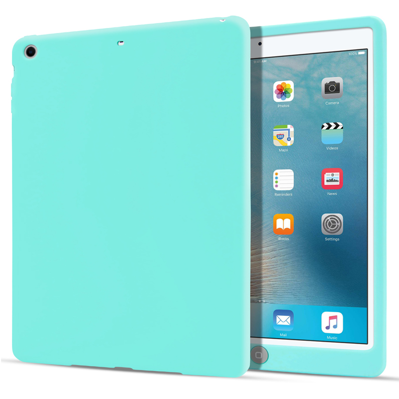 Simple Kids Safe Clever Silicon Anti-fall Tablet Back Case For IPad 9.7 Inch 2018 Universal Soft Back Smart Cover For IPad 2017