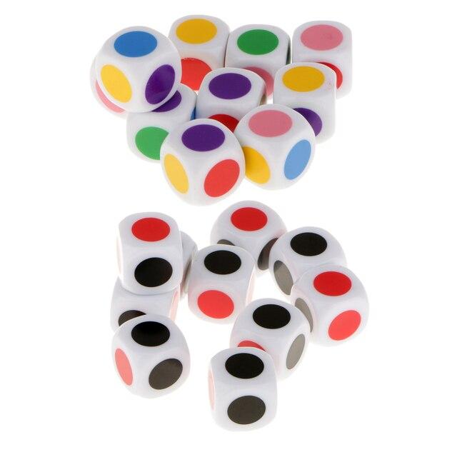 Neue Ankunft Kinder Brettspiel Würfel 6 Farben Würfel Tisch Spiele ...