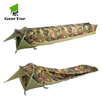 GeerTop Bivy Ultralight One Person Backpacking Tent 1 Man 3 Season Waterproof Fast Easy Set Up Camping Bivvy for Outdoor Hiking