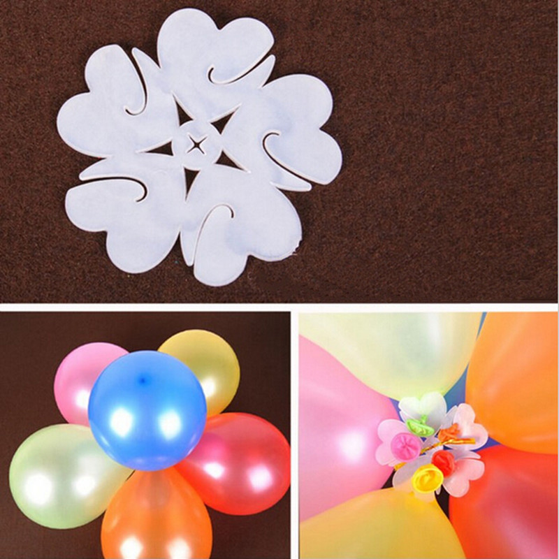 25pcs/lot Balloon Seal Clip Multi Balloon Sticks Balloon Accessories Plum Flower Clip Practical Convenient Balloon Sealing Clamp