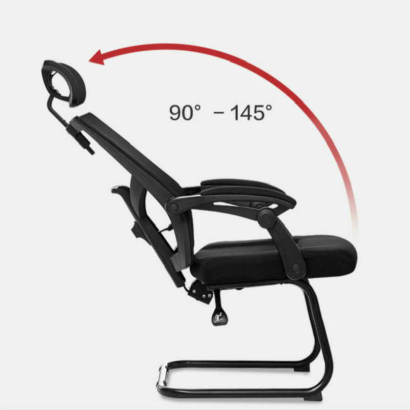 Купить с кэшбэком Office Chair Household Bow Feet Reclining Chair Cadeira Gamer Mesh Conference Chairs Silla Oficina Silla Gamer Gaming Chair