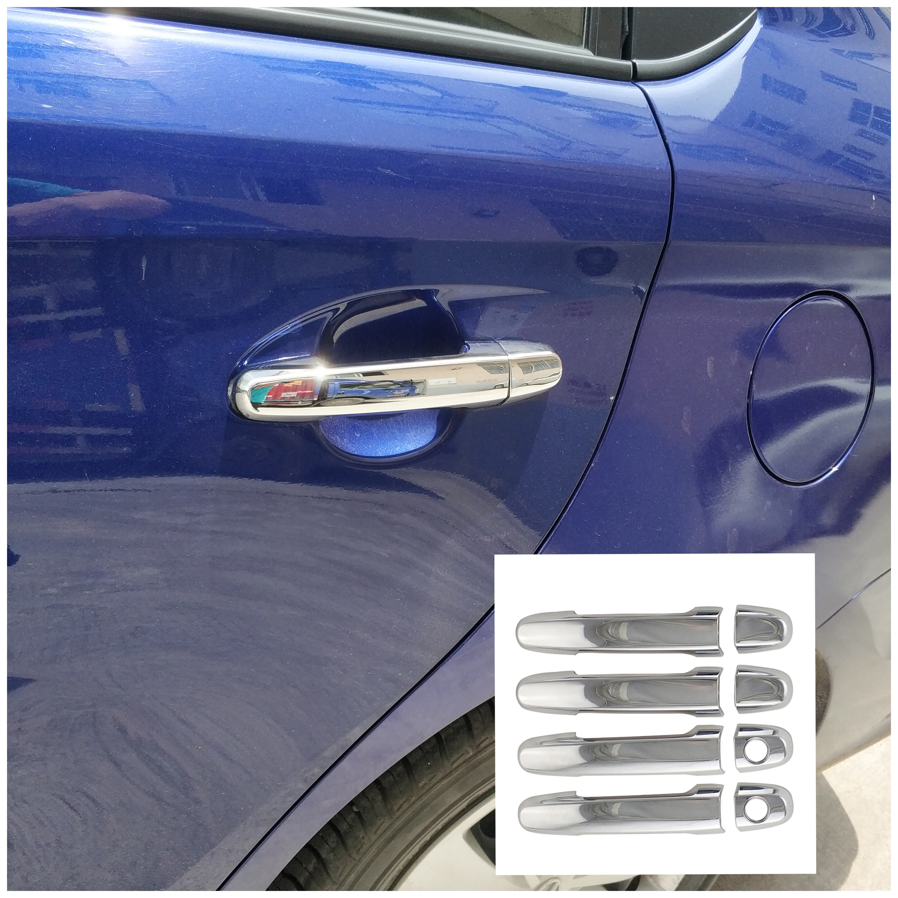 8PCS For TOYOTA RAV4 2000-2005 PROBOX 2002 SUCCEED 2002 Accessories abs Chrome Door Handle Cover Protection(China)